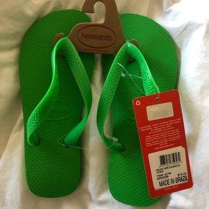 Lime green Havaiana flip flops